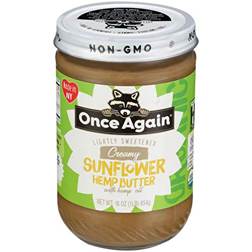 Once Again, Sunflower Butter Hemp Oil Organic, 16 Ounce