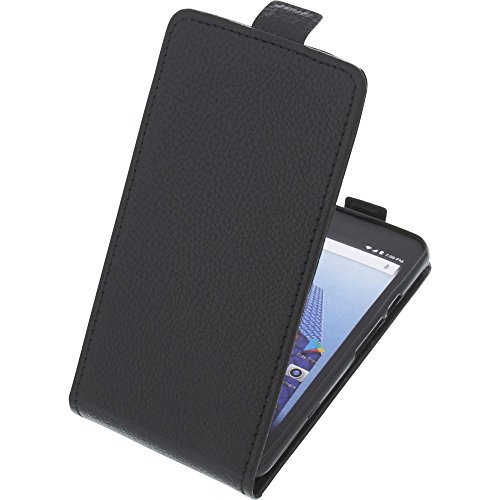 foto-kontor Tasche für Archos Access 50 4G Smartphone Flipstyle Schutz Hülle schwarz