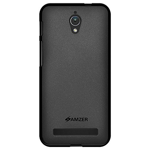 Amzer Pudding Soft Gel TPU Skin Fit Case Cover for ASUS Zenfone C ZC451CG - Retail Packaging - Black