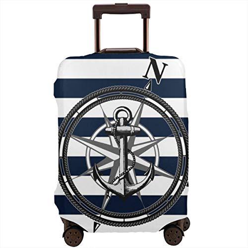 Nautica Reisegepäckabdeckung, passend für 66-71 cm Koffer, Marineblau gestreift