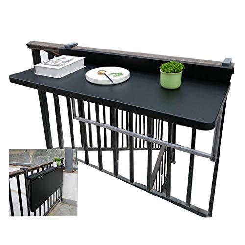 Folding table Klappbarer Geländer-Tisch, klappbarer Garten-Geländer-Tisch, Balkon-Hänge-Tisch, moderner Haus-Stehtisch Wand-Schreibtisch-Freizeit-Tisch