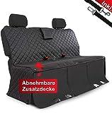 WhizProducts Hundedecke für Auto Rückbank (mit Zusatz-Decke, Tasche & Sicherheitsgurt) – Wasserabweisende Autoschondecke & Rutschfester Sitzbezug mit Seitenschutz - ideal auch als...