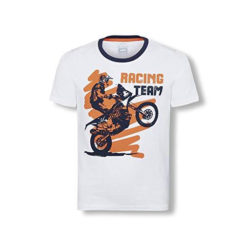 Red Bull KTM Rider T-Camisa, Blanco Niños Tamano 140 Camisa Manga Larga, KTM Racing Team Original Ropa & Accesorios