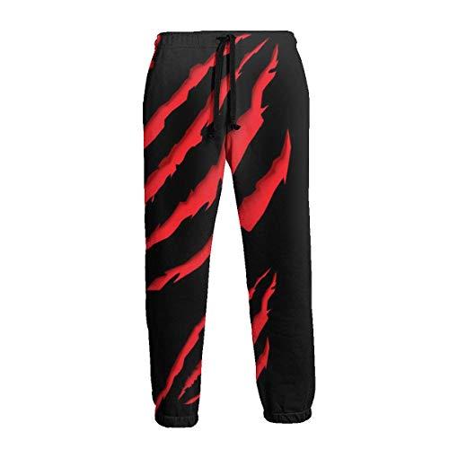 Pantalón de chándal Rojo Animal Paw para Hombre Casua con Bolsillos