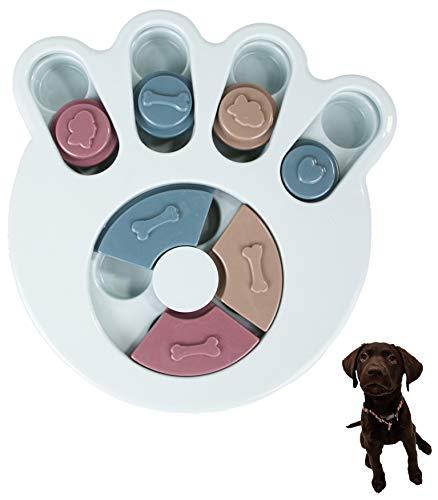 Smart Pet ペット 知育玩具 犬 猫 早食い防止 ペットトレーニング パズルボウル IQ UP! ゲーム おもちゃ Pet Bowl (BLUE)