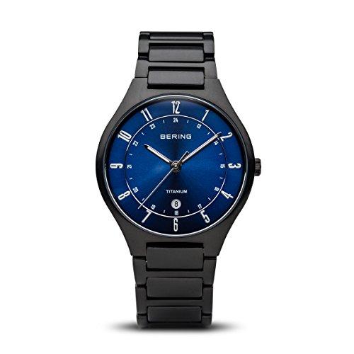 BERING Time | Men's Slim Watch 11739-727 | 39MM Case | Titanium Collection | Titanium Strap | Scratch-Resistant Sapphire Crystal | Minimalistic - Designed in Denmark