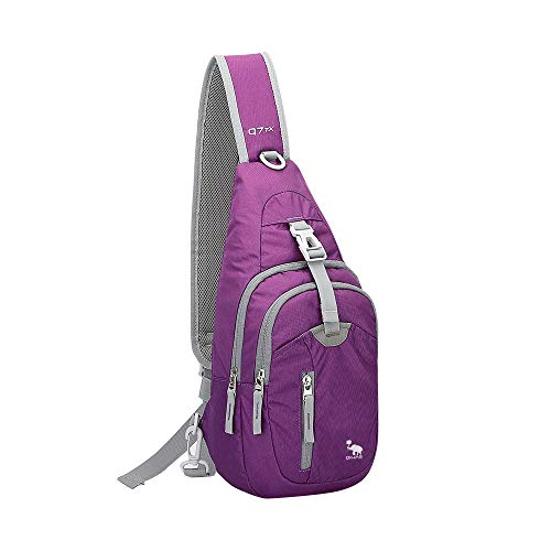 Kimlee Crossbody Pack Chest Shoulder Sling Backpack One Strap Lightweight Pouch Day Bag for Outdoor
