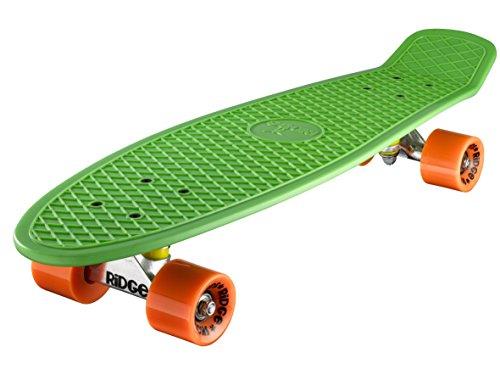 Ridge Big Brother Large Retro Cruiser Skateboard, Unisex, Verde, 69 cm