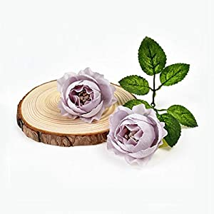 10Pcs Artificial Silk Tea Rose For Wedding Home Christmas Decoration Diy Wreath Scrapbook Gift Box Fake,purple
