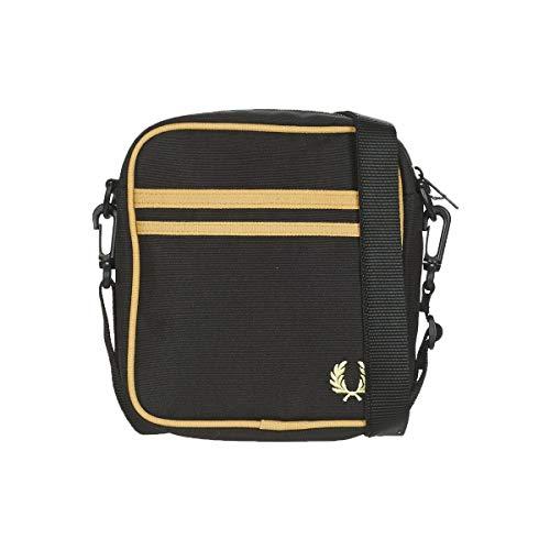 Fred Perry TWIN TIPPED SIDE BAG Kleine Taschen hommes Schwarz/Goldfarben - Einheitsgrösse - Geldtasche/Handtasche
