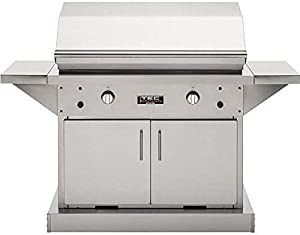 Tec Patio Fr 44-inch Freestanding Infrared Propane Gas Grill On Stainless Cabinet - Pfr2lpcabs