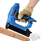 Electric Corded 9A 2 in 1 Staple Gun &18 Gauge Brad Nailer Crown Width 2 mm Nail Length 15-32mm for Fabrics...