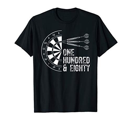 Dart T-Shirt - One Hundred And Eighty 180 Darts Dartpfeil