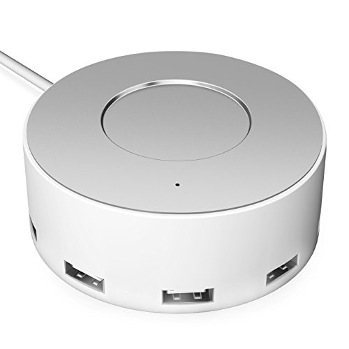 Vogek 6-Port USB Charger Desktop Charging Station with Smart Identification (White)