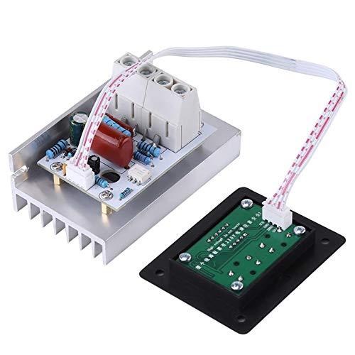 ESUHUANG AC 220V 80A 10000W Regulador de Voltaje Digital Regulador de Velocidad Dimmer Termostato Controlador de Voltaje SCR