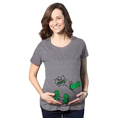 Crazy Dog T-Shirts Maternity Bump Smash T Shirt Funny New...