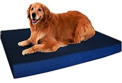 Orthopedic 100% Memory Foam Pad Pet Bed for Large Dog