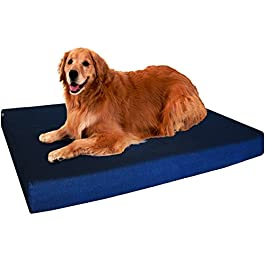 Dogbed4less Extra Large Orthopedic Memory Foam Dog Bed, Waterproof Liner, Extra Pet Bed Cover, 40X35X4 Inch