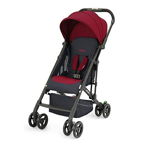 Recaro Kids, Buggy Easylife 2 (6 Monate-22 kg), Buggy 2 in 1 kompatibel mit Babyschale, Leichter Buggy, Kompakt, Einfach zu Bedienen, Hervorragende Luftzirkulation, Sonnenverdeck, Select Garnet Red