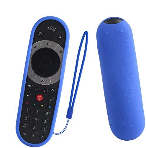 SIKAI Compatibile con Sky Q touch Edition Remote Control Custodia Protettiva per Telecomando TV SKY Q Custodia Cover in Siliconica Morbida Protettivo Caso Antipolvere (Blu)