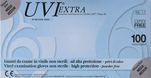 GIMA 25693 Guanti in vinile in PVC, senza polvere, taglia M, 100 pezzi