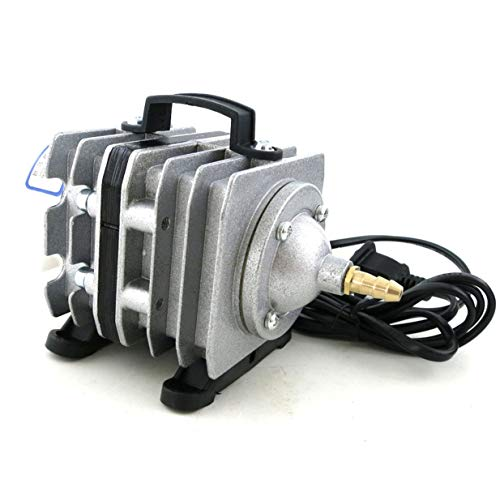 Sairis 20 W Elektromagnetische luchtcompressor Super Fish Tank Vijver luchtcompressor zuurstofpomp zilver