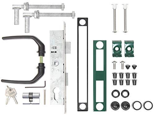 Gah-Alberts 653811 accessoireset voor gekartelde deuren, voor poorten tot 1500 mm hoogte, groen