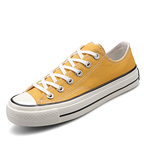 Zapatos Planos de Lona para Mujer cómodos y Casuales Ligeros Antideslizantes con Cordones Zapatillas de Corte bajo amortiguación Zapatillas de Deporte de Fondo Suave para Estudiantes