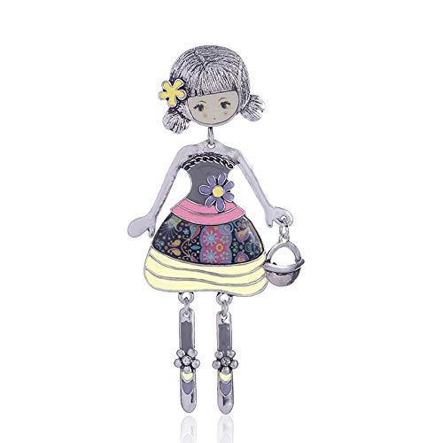 U/N Broches de muñeca Rosa para Mujer, broches Femeninos de Moda clásica...