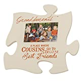 P. Graham Dunn Cousins Best Friends 4x6 Photo Frame Inspirational Puzzle Piece Wall Art Plaque