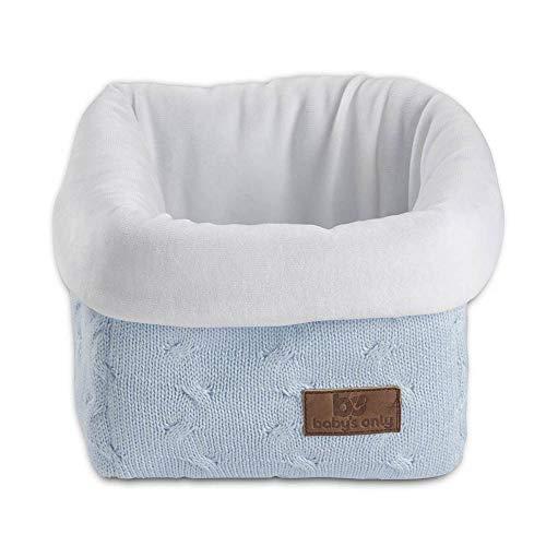 BO Baby's Only - Panier commode Cable - Bleu Ciel - 50% coton/50% acrylique