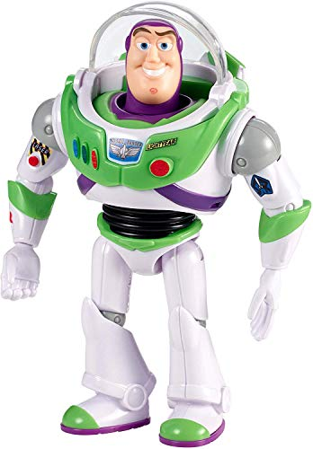 Mattel- Disney Toy Story 4-Figura bsica Buzz Lightyear con Casco, Juguetes nios +3 aos GGX30, Multicolor