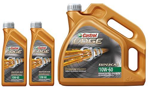 Castrol EDGE TITANIUM FST 10W-60 Supercar Synthetische Motorolie, 6 liter