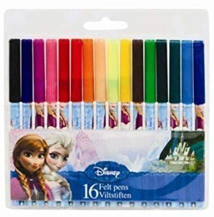 Frozen disney elsa et anna stylos feutres 16 pour l'école