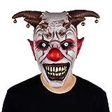 molezu Máscara de Payaso de Campana Halloween Látex Horror Campana Casco Wraith Máscara de Miedo para Adultos Accesorios de Rendimiento Máscara de Fiesta de Carnaval