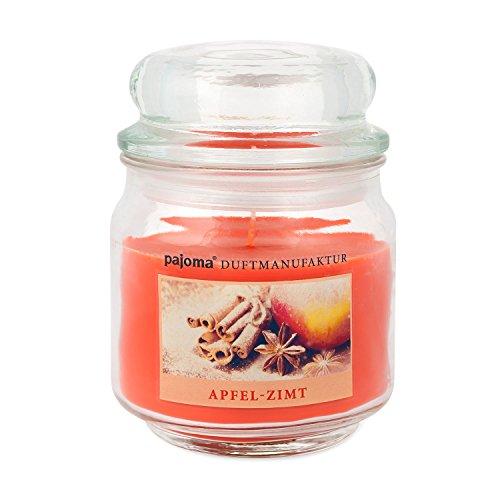 pajoma Duftkerze ''Apfel-Zimt'' Sweet Christmas Edition im Bonbonglas, 248 g, Premium Kerze zum verschließen, für Circa 55 Stunden, Kerze perfekt für Weihnachten