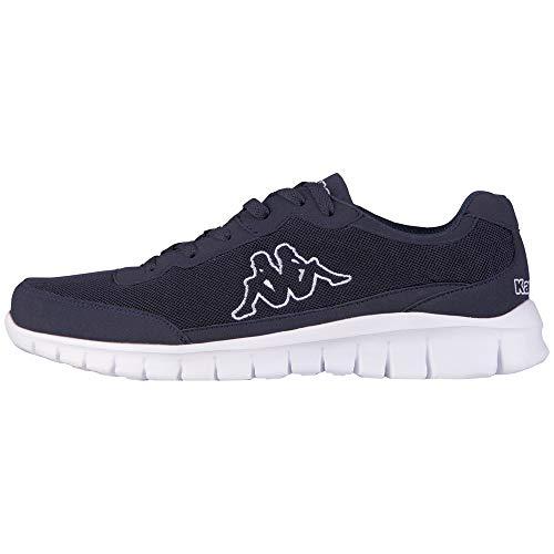 Kappa ROCKET Low Top Sneakers für Sport & Freizeit , angesagter Kappa-Style für moderne Männer , leicht & atmungsaktiv , hoher Tragekomfort , Sport- & Turnschuhe Männer, blau, Größe 50 EU