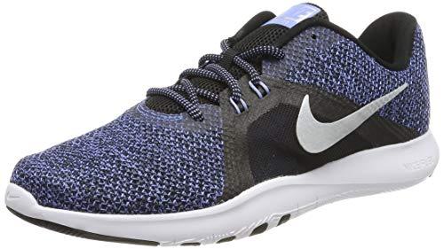 Nike Damen In- In-season Tr 8 Premium Fitnessschuhe, Blau (Black/Metallic Silver-Royal Pu 001), 42.5 EU