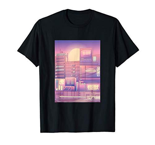 Schöne Outfit Chinesichen Zeichen Wave Vapor Stadt Lights T-Shirt