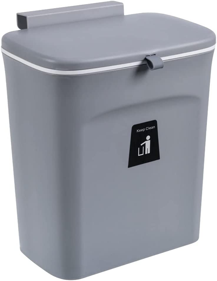 BAWAQAF Hanging El Paso Mall Trash Can with Lid Mounted Price reduction Garbag Waste Bin Wall