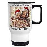 Custom Travel Coffee Mugs, 14 oz. Personalized Photo...
