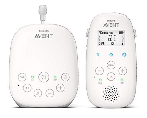 Philips AVENT SCD713/26 video-monitor para bebés 330 m Gris, Blanco - Vigilabebé (330 m, 50 m, 330 m, Gris, Blanco, LCD, Corriente alterna, Batería)