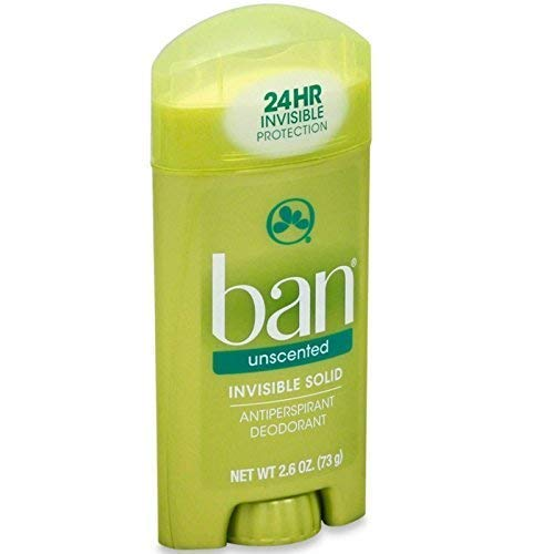Ban Anti-Perspirant Deodorant Invisible Solid Unscented 2.60 oz ( Pack of 12)
