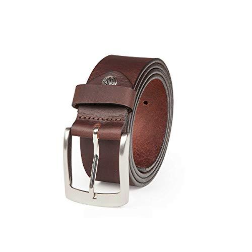 MANN - hombre, cinturón de cuero marrón bw95 393