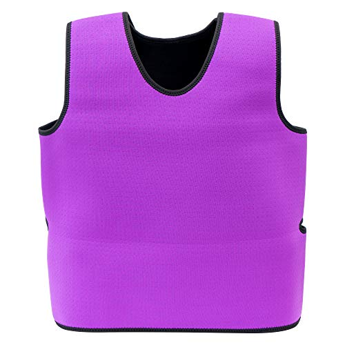 Special Supplies Sensory Compression Vest Deep Pressure Comfort for Autism, Hyperactivity, Mood Processing Disorders, Breathable, Form-Fitting, Kids and Adults (Purple, Small 17x30 inches)