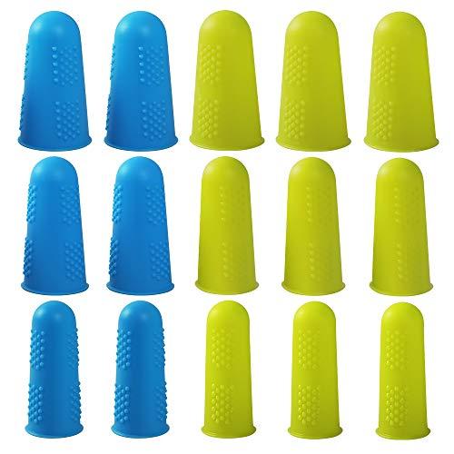 15 Piezas Dedales de Silicona Protectores de Dedos para Costura Tapas de Silicona para Pistola de Pegamento Caliente Costura de Scrapbooking