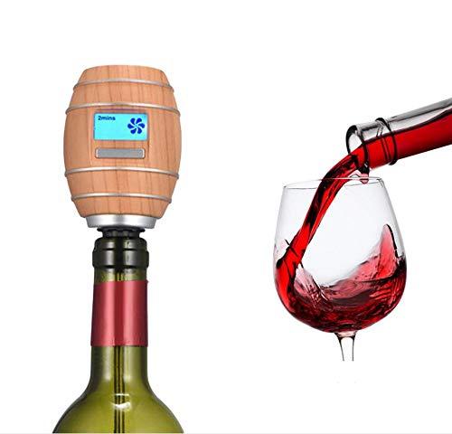 Elektrische wijnbeluchter, draagbare slimme wijndispenser met lcd-scherm, One-Touch automatische wijndecanter en gieter, dispenser voor rode en witte wijn, geschikt voor de meeste flessen