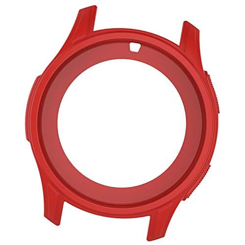 P Prettyia Frontier Custodia protettiva antiurto, facile da installare per Gear S3 Frontier - Rosso, 52,5 x 46 mm