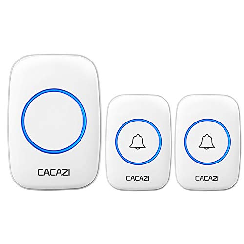 Wireless Doorbell Waterproof Twin Wall Plug-in Cordless Door Chime Kit with 300m Range 36 Chimes 4 Level Volume, Required Best for Plug in Door Entry Bell