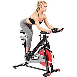 Sunny Health & Fitness Indoor Cycling Exercise Bike with Heavy 49 LB Chrome Flywheel - SF-B1002